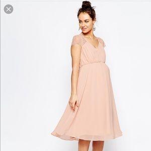ASOS | Blush Pink Maternity Dress